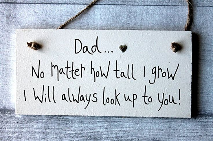 MadeAt94 Shabby Chic Personalized Wooden Sign Dad NO Matter How Tall I Grow Fath...