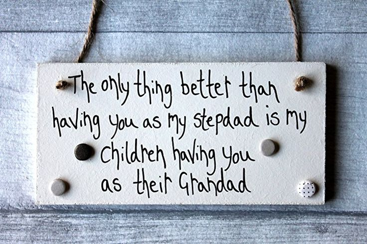MadeAt94 Step Dad Father's Day and Birthday Sign for Grandad From Grandchild...