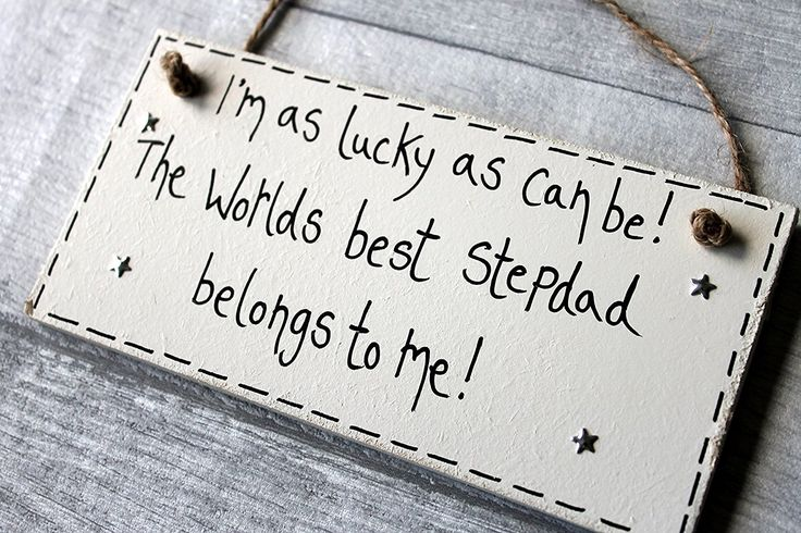 Birthday Gifts & Birthday Gifts : MadeAt94 Step Dad Gifts Personalised Wooden Plaque ...