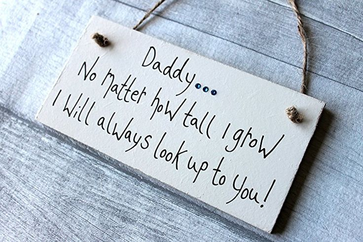MadeAt94 Wooden Sign Daddy No Matter How Tall I Grow Father's Day Sign Birth...