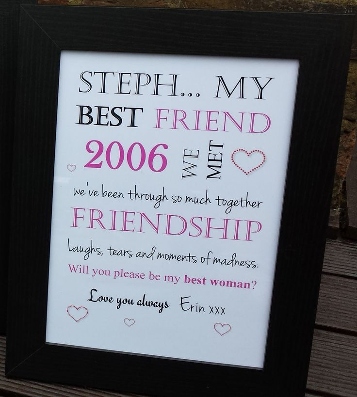 Birthday Gifts My Best Friend Print With Frame GBP1499 Friends