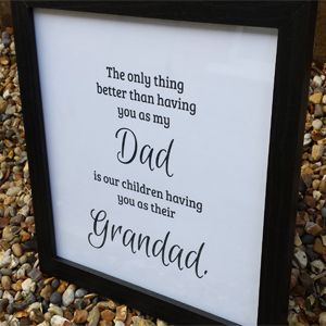 Birthday Gifts Only The Best Dads Get Promoted Print With Black