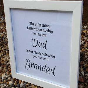 Birthday Gifts Only The Best Dads Get Promoted Print With White