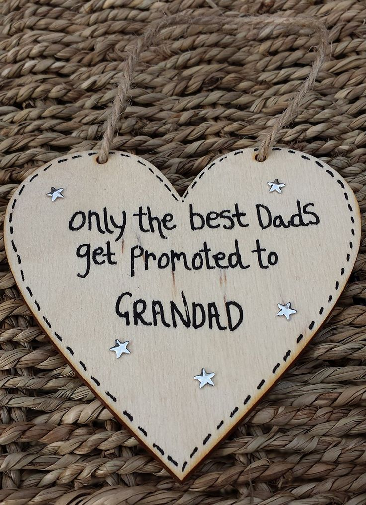 Birthday Gifts Personalised Handmade Fathers Day Wooden Heart Gift