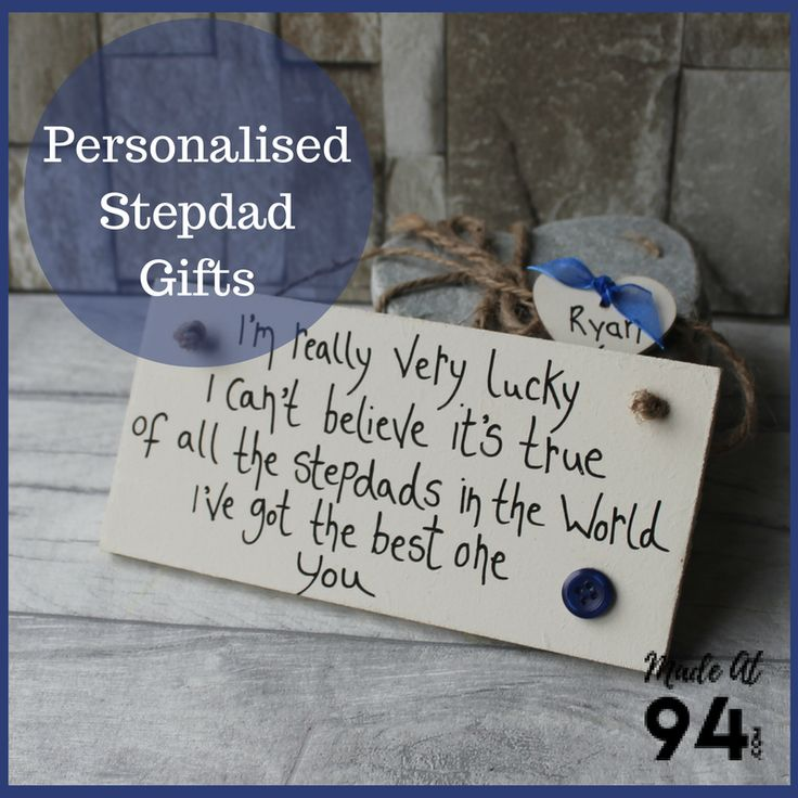 Birthday Gifts : Stepdad presents and Gift Ideas. Plaques and lovely ...