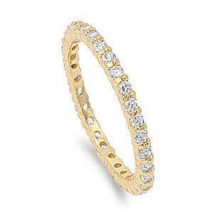 The Darling Classic & Elegant 14K Gold 2TCW Micro Pave Russian Lab Diamond Weddi...