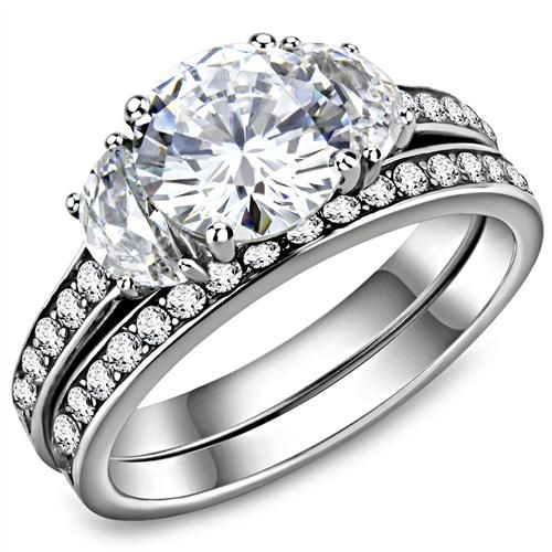The Grace, A 1.9CT Round Cut Russian Lab Diamond Bridal Set Ring
