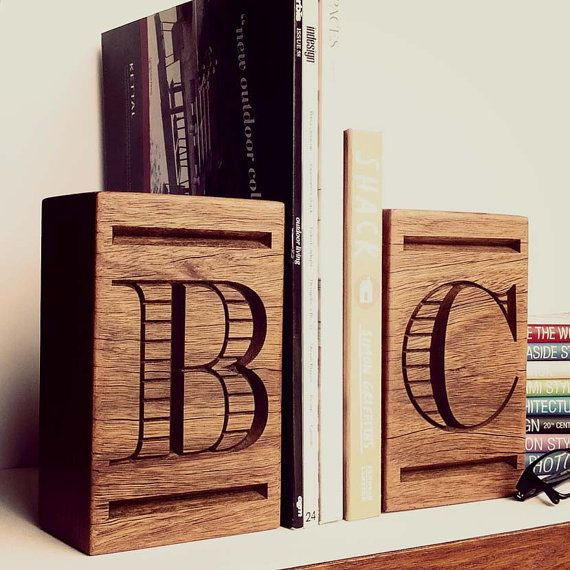 Corporate Gifts Ideas Personalised Hardwood Bookend S Home Decor