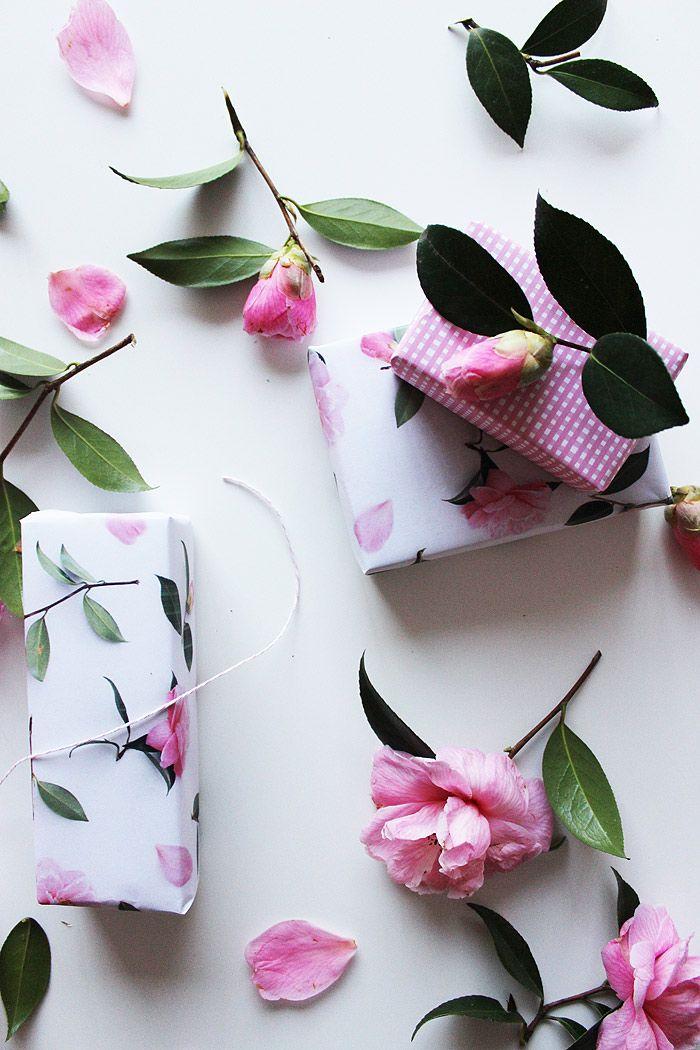 Camellia gift wrap.