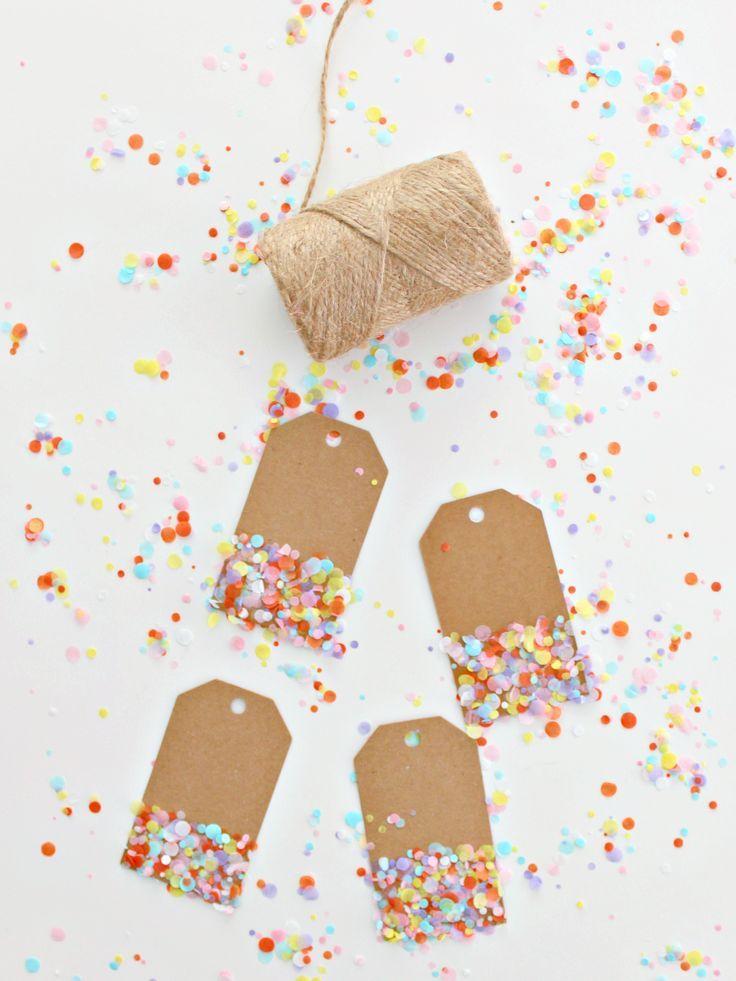 DIY Colorful Confetti Gift Tags
