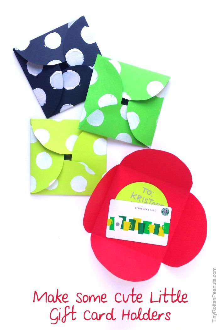 DIY gift card envelopes from Tiny Rotten Peanuts