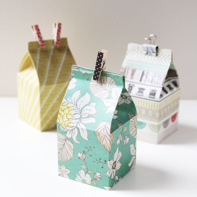 DIY Gift Wrapping Ideas Diy Mini Milk Carton Gift Boxes