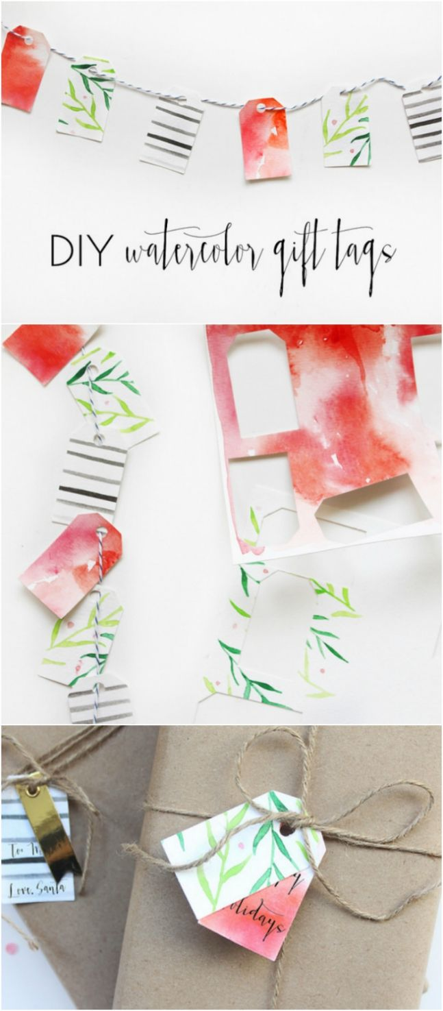 diy-gift-wrapping-ideas-diy-watercolor-tags-see-this-easy-tutorial ...
