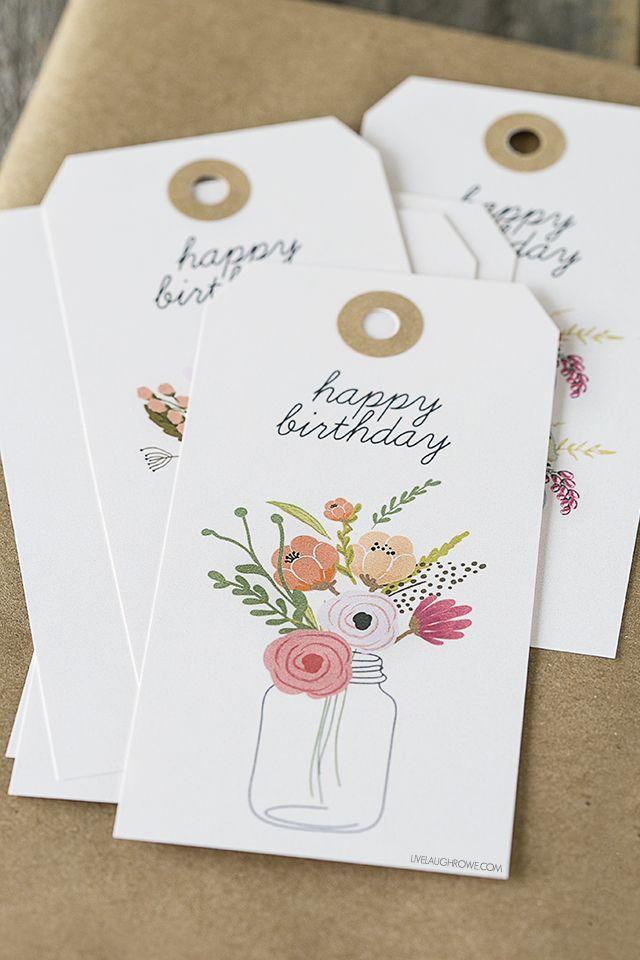 Diy gift wrapping ideas free printable birthday gift tags diy gift wrapping ideas free printable birthday gift tags negle Gallery