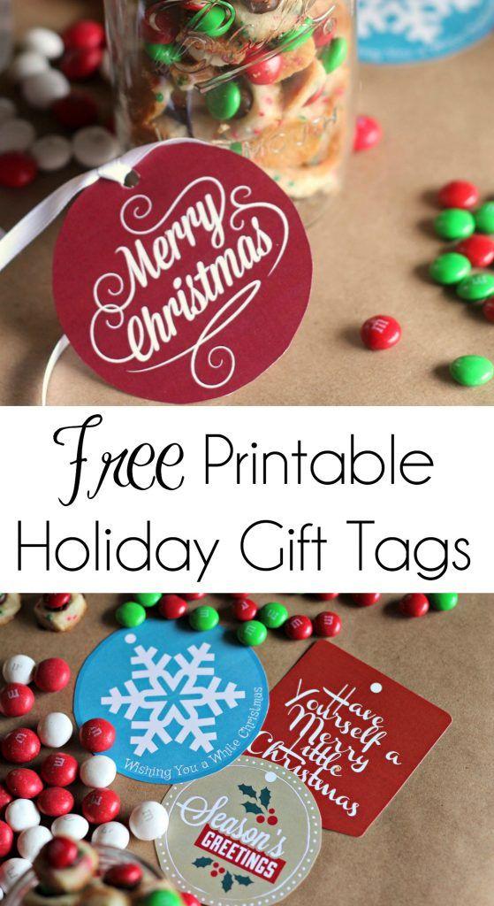 Free Printable Holiday Gift Tags   #Printables #FreePrintables #FreeChristmasPri...