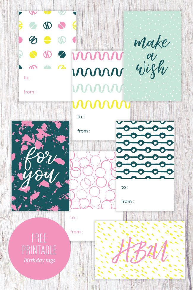 Diy Gift Wrapping Ideas Free Printable Modern Birthday Gift Tags
