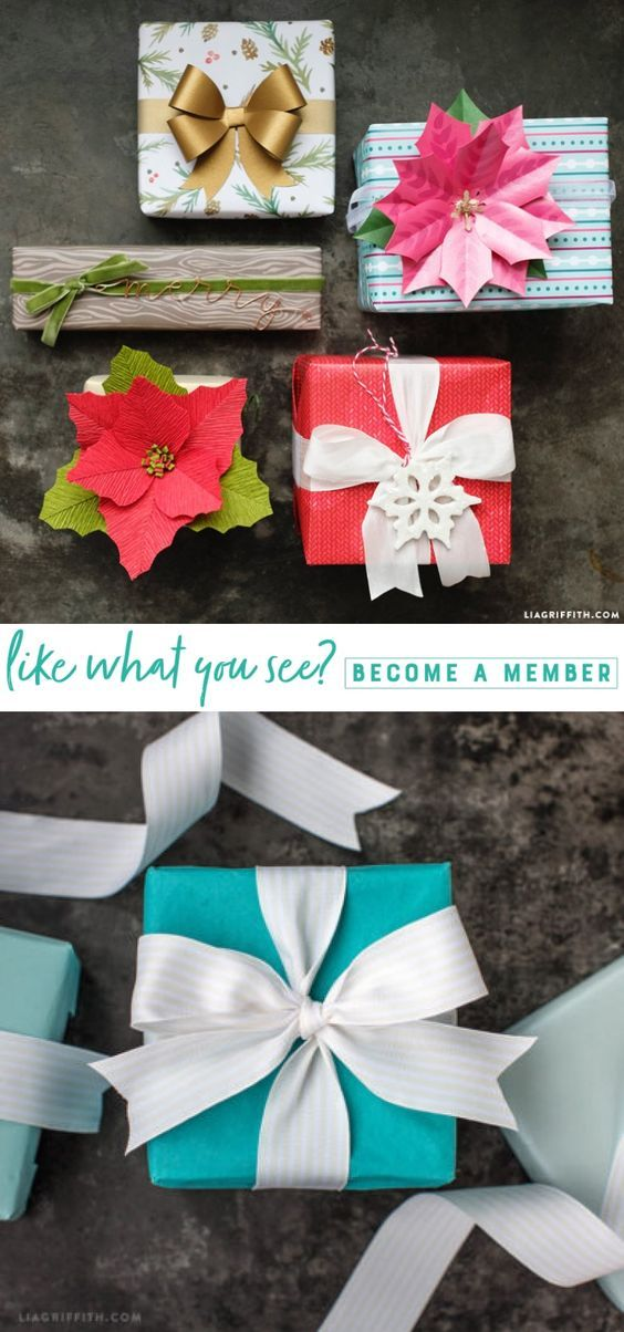 Holiday Gift Wrapping Ideas! www.LiaGriffith.com #holidaygiftwrapping #christmas...