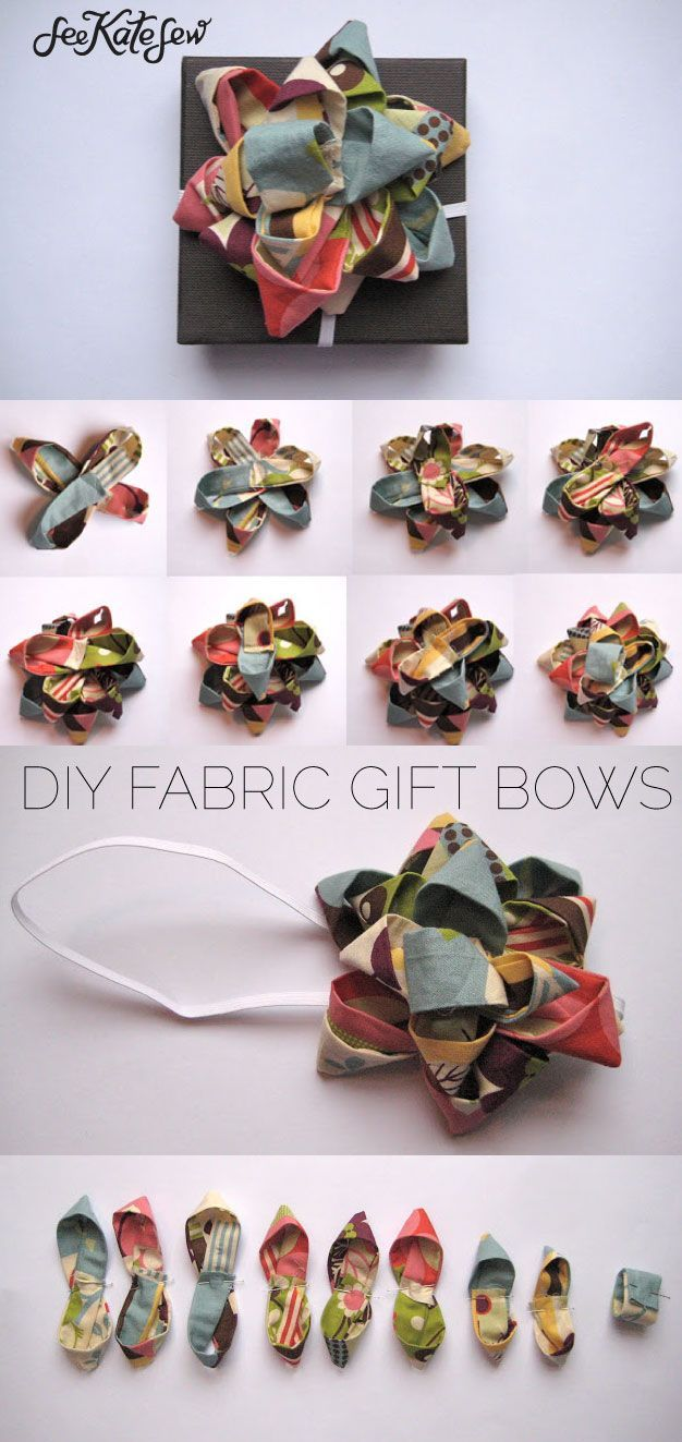 how to make a gift bow out of fabric | diy gift bows | diy fabric ideas | how to...