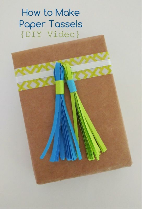How to Make Paper Tassels Video - One minute video on how to make this fun paper...