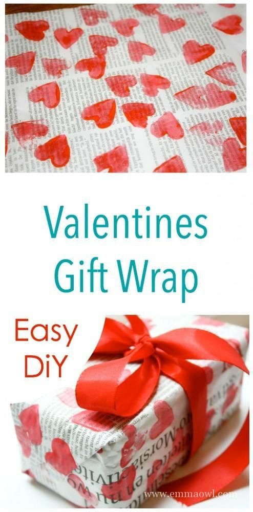 Diy gift wrapping ideas make your own heart valentines for A great valentines gift