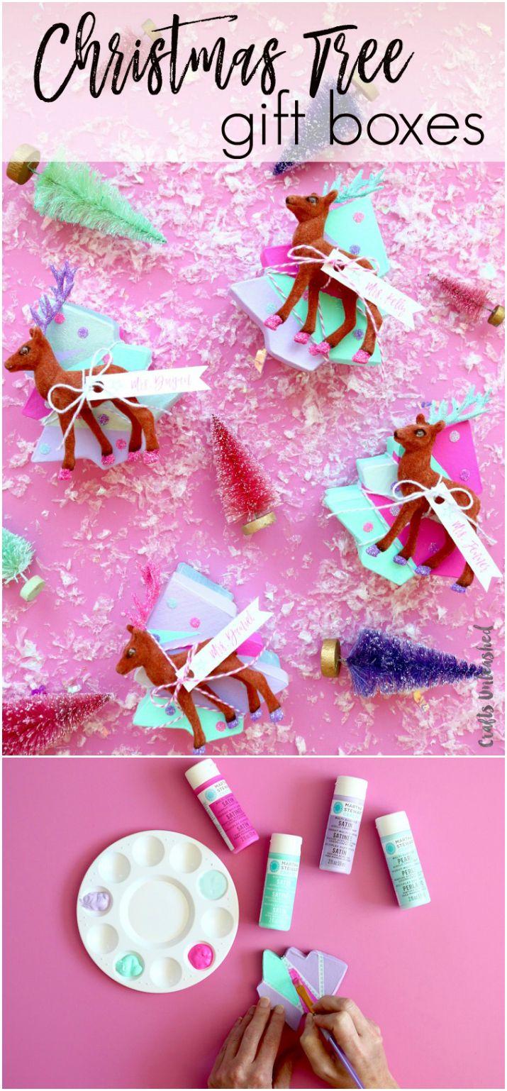 Mini Christmas Tree Gift Boxes