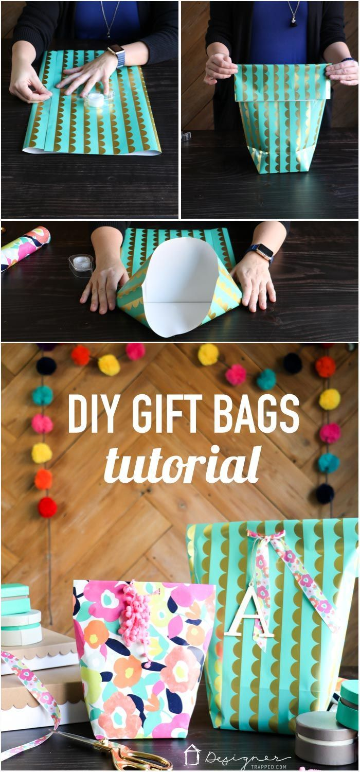 OMG! This is genius. Learn how to make a gift bag from wrapping paper. These are...