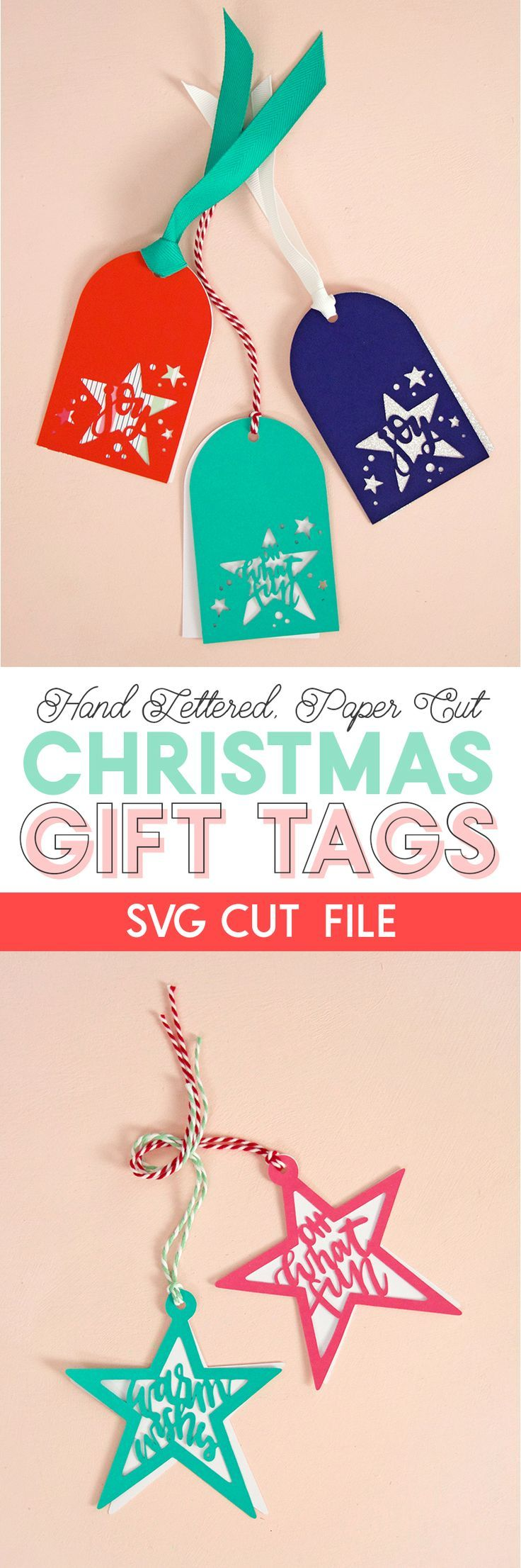 paper cut christmas gift tags - svg cut file - make your own tags with your silh...