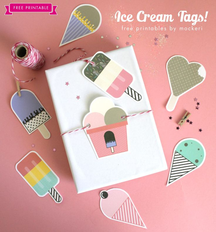 Diy gift wrapping ideas perfect for summer free printable ice diy gift wrapping ideas negle Choice Image