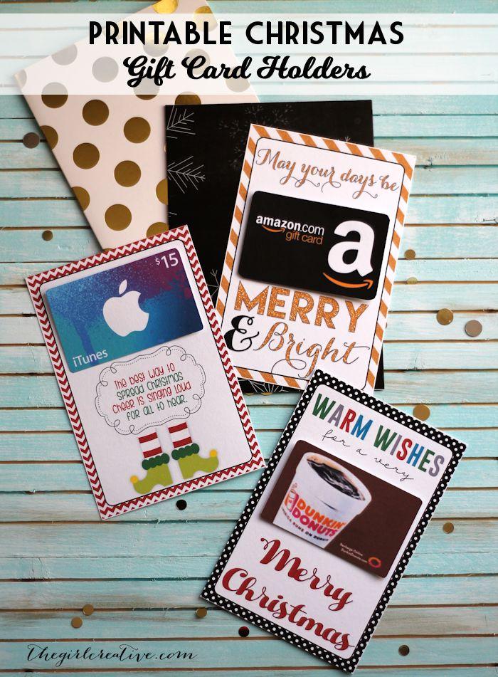 DIY Gift Wrapping Ideas : Printable Christmas gift card holders ...