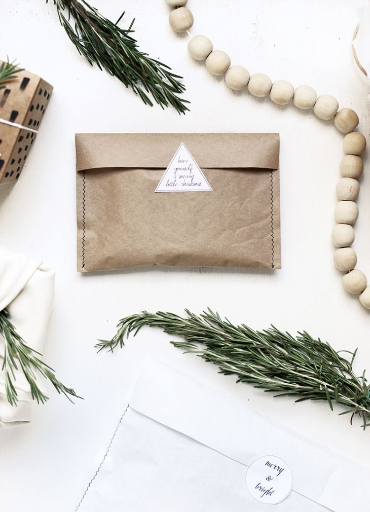 Sewn brown paper envelope style bag. Love the stickers #flatlay #flatlays #flatl...