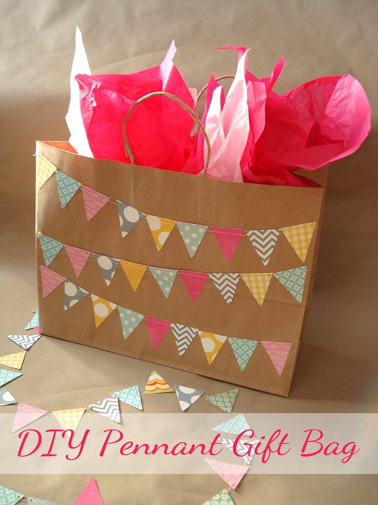 Diy Gift Wrapping Ideas Silver Boxes Diy Pennant Gift Bag