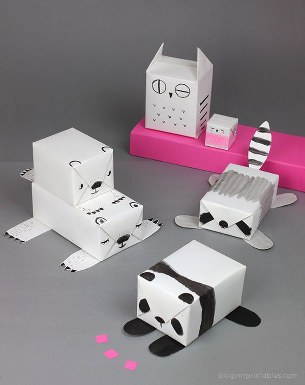 Diy Gift Wrapping Ideas This Mr Printables Turns Plain Paper Into Fun Animal Wrap Paperp