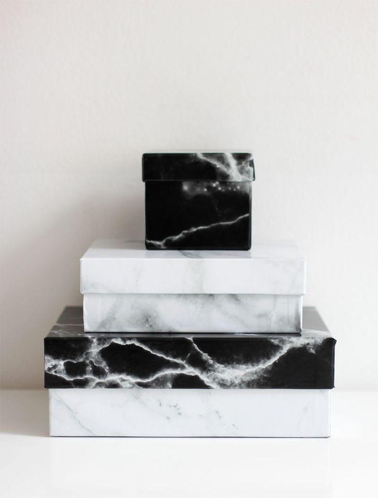 we love handmade   Upcycling-DIY: Marble-Boxen   welovehandmade.at