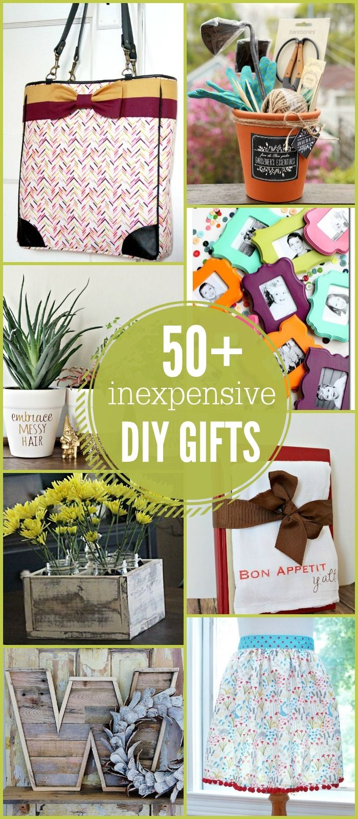 50+ Inexpensive DIY Gift Ideas - so many great ideas!