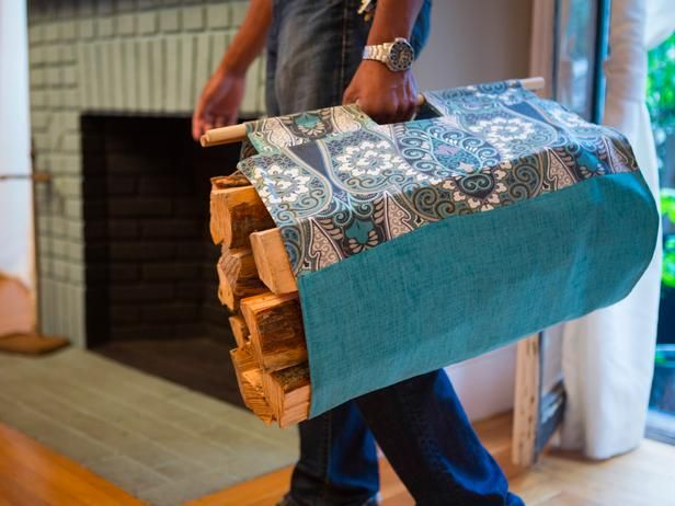 Easy Sewing Project: How To Make a Log Carrier