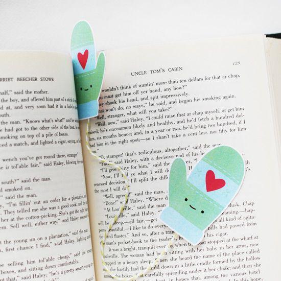 FREE Printable Mitten Bookmark