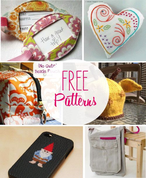 DIY Gifts And Wrap : Free sewing patterns - GiftsDetective.com ...