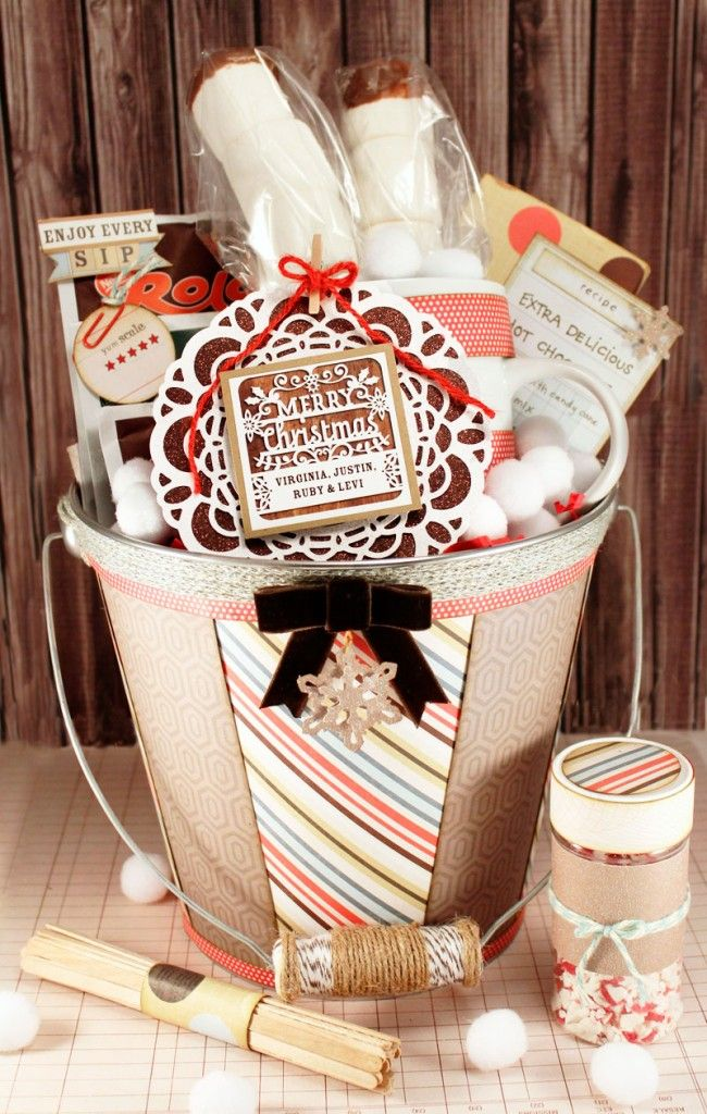 Hot Chocolate gift basket set. Include hot chocolate, mug, marshmallows, chocola...