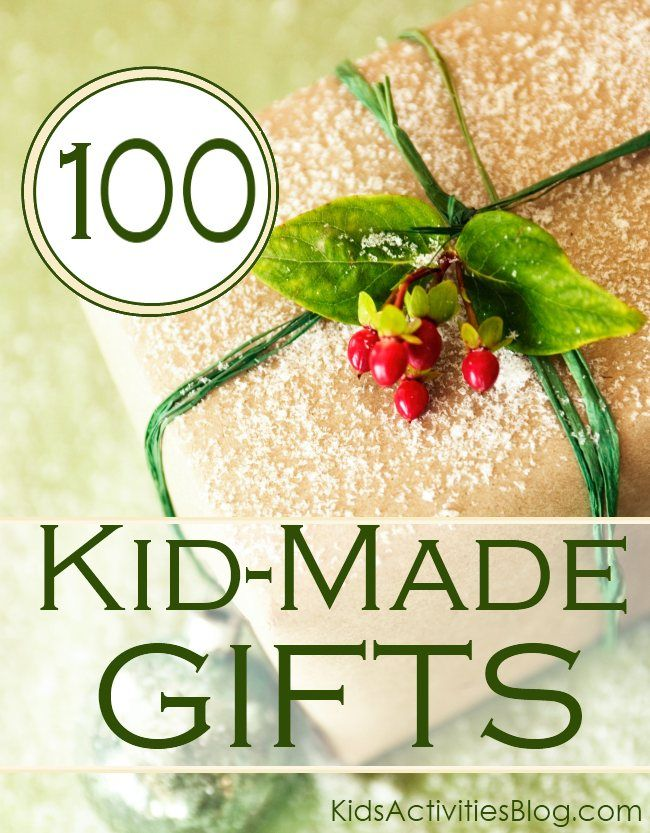 DIY Gifts And Wrap : Kid made Gifts Over 100 ideas of things
