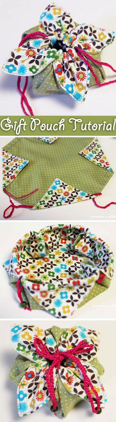 little fabric gift pouch – it is the perfect size to gift some jewellery or ot...
