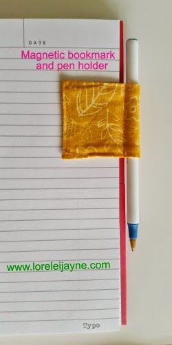 Magnetic Bookmark and Pen Holder Tutorial. Awesome pen holder and book mark for ...