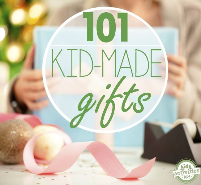 Oh so many homemade gift ideas!  101 DIY Gift Ideas for Kids