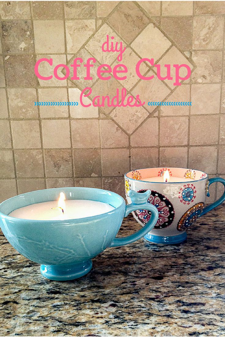 DIY Gifts : DIY Coffee Cup Candles would make a great homemade