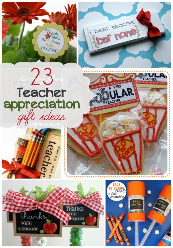 Diy Gifts Ideas 23 Teacher Appreciation Ideas