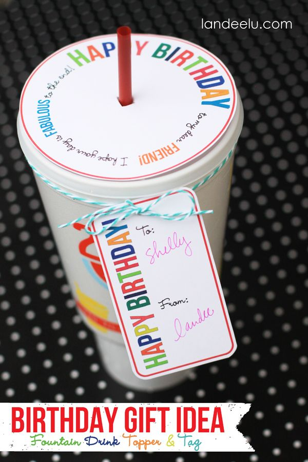 Diy Gifts Ideas Awesome Birthday Gift Idea Drink Topper And Tag