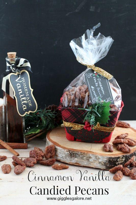 Cinnamon Vanilla Candied Pecans