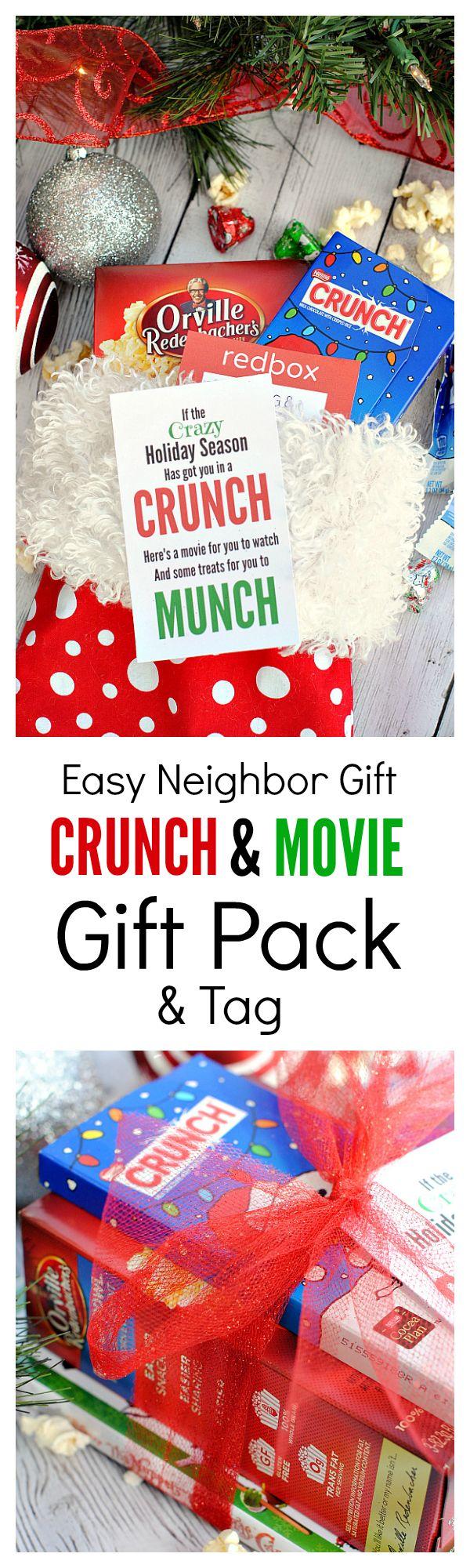 Cute Neighbor Gift Idea: If the crazy holiday season has got you in a CRUNCH, he...