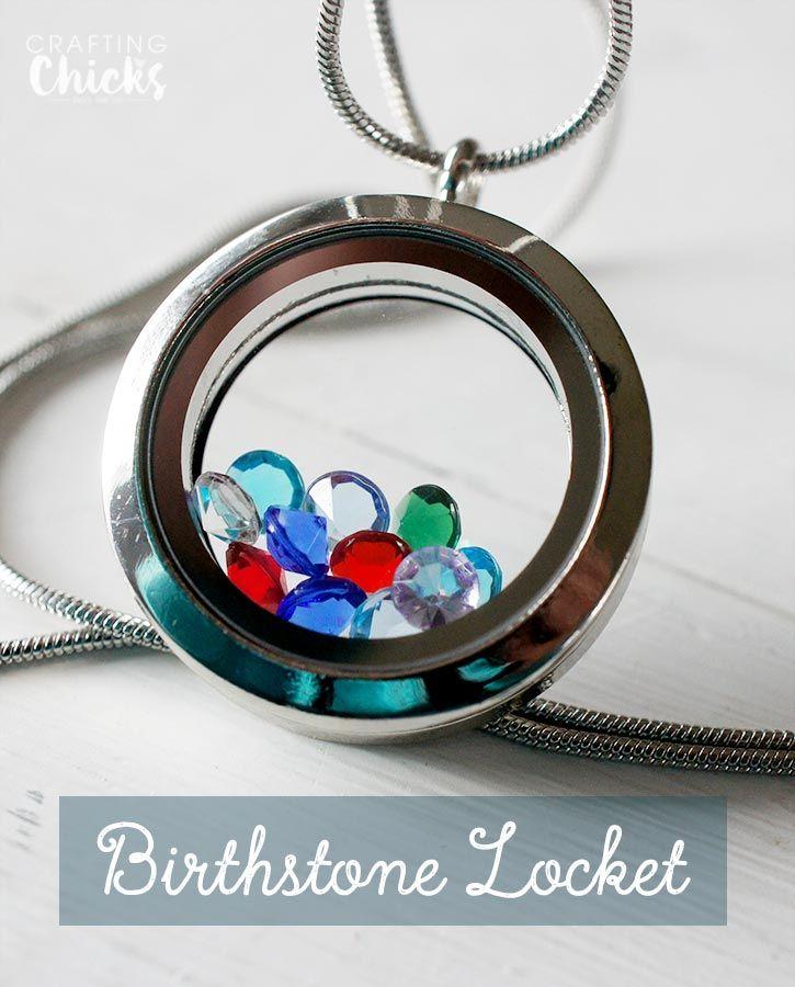 DIY Birthstone Locket Mother's Day Gift Idea