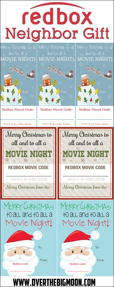 Easy and affordable neighbor gift idea - Redbox code + popcorn!