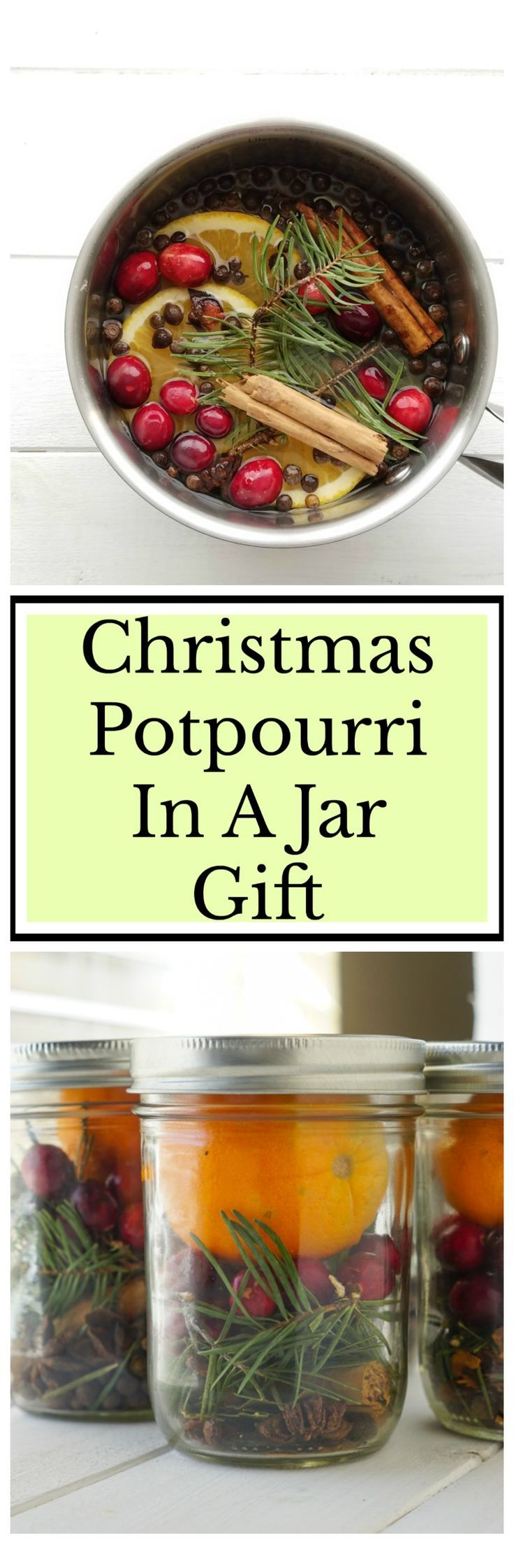 Easy to make Christmas Potpourri in a jar gift!